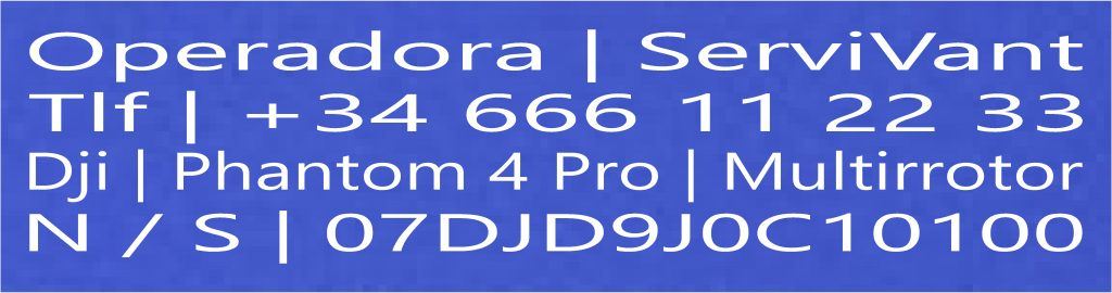 Fondo Azul Mate / Letra Blanca